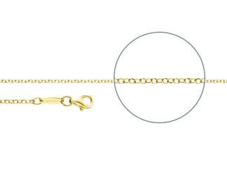 Kettenmacher Erbskette diamantiert gold, 2 mm