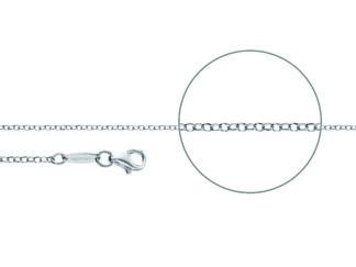 Kettenmacher Erbskette diamantiert rhodiniert, 2 mm