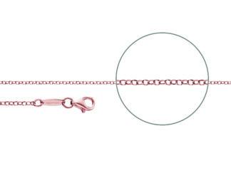 Kettenmacher Erbskette diamantiert rosegold, 2 mm